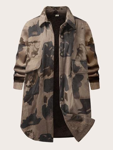 Corduroy Thicken Camo Jacket