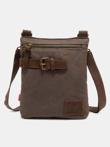 Canvas Vintage Buckle Design Bag