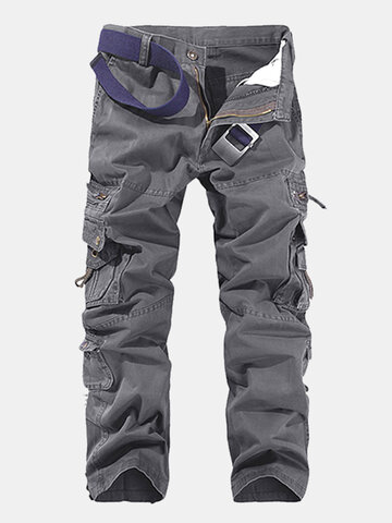 Multi-pocket Casual Cotton Cargo Pants