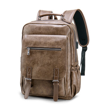 Laptop Borsa Backpack For Men in ecopelle grande capacità