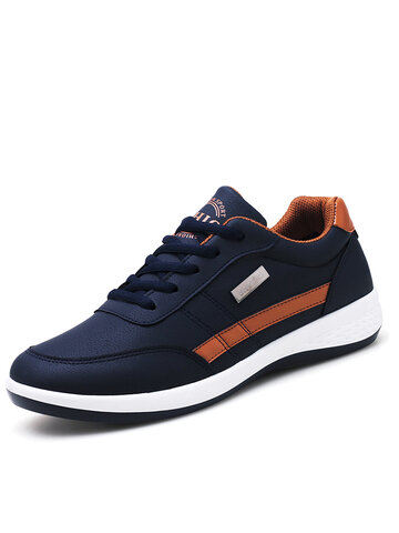 Men Microfiber Leather Comfy Sport Sneakers