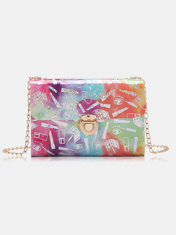 Chain Tie dyed Messenger Bag Crossbody Bags