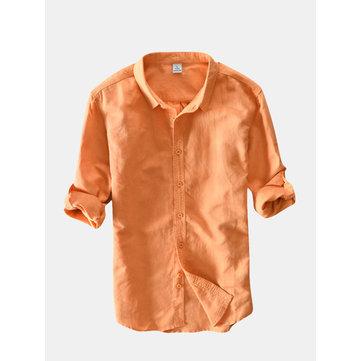 Camisas de algodão casuais confortáveis respiráveis
