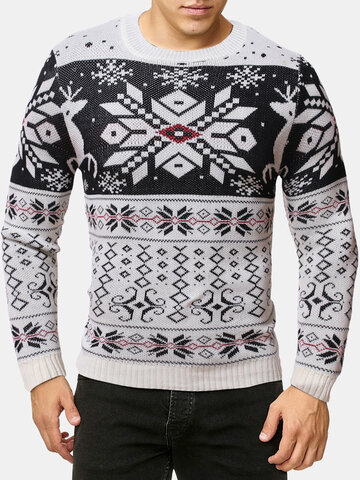 Christmas Snowflake Pullover Sweater