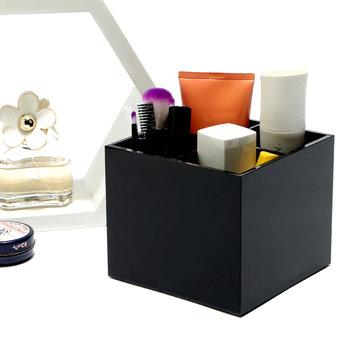Black Acrylic Lipstick Holder Makeup Brush Cosmetic Organizer Display Stand Case