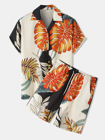 Tropical Leaf Print Outfits