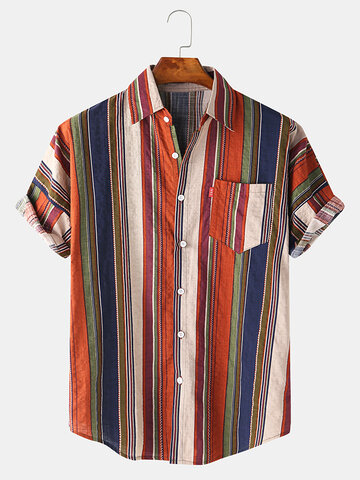 Colorful Vertical Striped Shirt