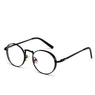 Light Metal Retro Computer Clear Lens Glasses