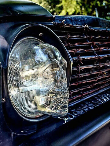 1 PC Skull Skeleton Headlight Lampshade Decorative Protection Cover Case for Auto Car Truck Motorcycle Halloween Decoration