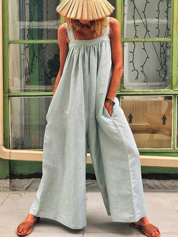 Casual Overalls Wide Leg Jumpsuits