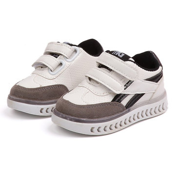 Boys LED Hook Loop Casual Shoes