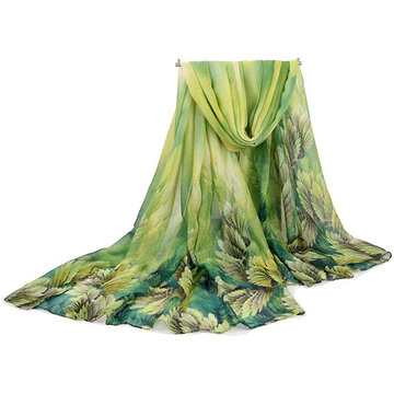 Women Coral Flower Printing Long Scarf