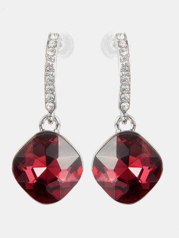 Classic Crystal Drop Earrings