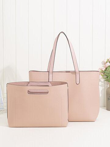 2 PCS Multi-pocket Large Capacity Removable Key Multifunctional Handbag Tote