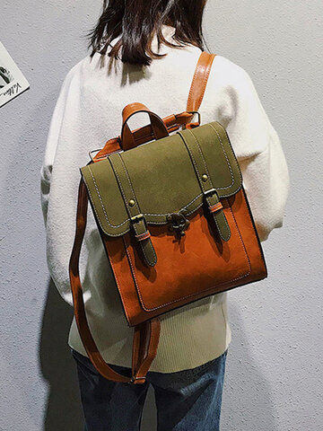 Vintage Double Release Buckle Backpack