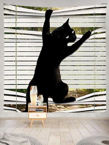Black Cat Modello Arazzo Art Home Decoration Soggiorno Camera da letto Decorazione