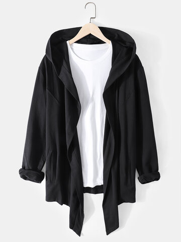 Solid Assassin Hooded Cardigans