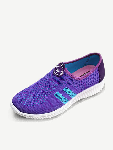 Running Mesh Slip On Casual Shoes
