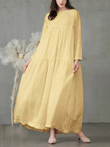 Casual Solid Color A-line Dress
