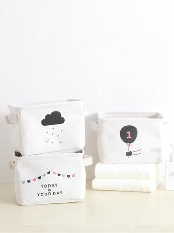 Simple Portable Fabric Storage Storage Basket