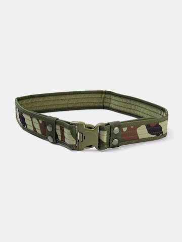 130CM Mens Camouflage Military Army Tactical Belt Swat Combat Hunting Outdoor Sports Belt