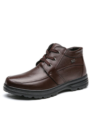 Men Warm Business Casual Ankle Boots