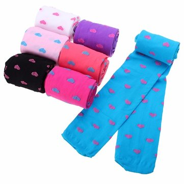 Kids Girls Semi Sheer Slim Full Foot Pantyhose Stockings Baby Tights High Socks