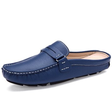 Men Moc Toe Comfy Backless Loafers