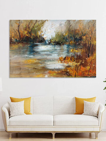 1 Pc Unframed Canvas Natural Landscape Oil Painting Home Bedroom Decor Wall Art Pictures