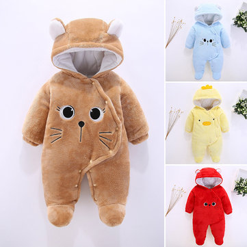 Fleece Baby Winter Thick Jumpsuit For 0-12M