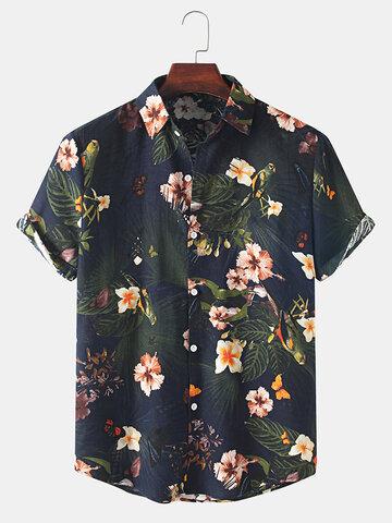قميص كاجوال كلاسيكي مزين بالزهور