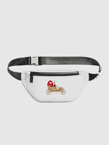 White Happy Easter Chest Bag