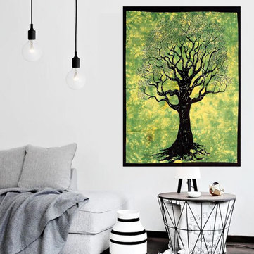 Tree Of Life Indian Mandala Wall Hanging Blanket Beach Towel Tapestry Throw Mat Home Decoration