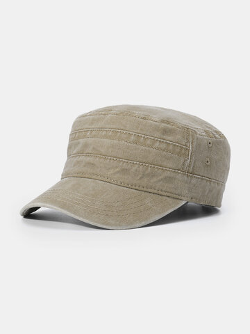 Cotton Solid Color Military cap