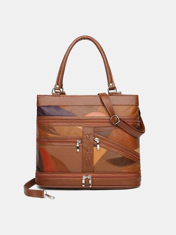 Vintage Multi-layer ZIP Crossbody Bag