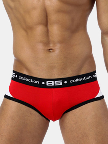 Mens Sexy Modal Breathable Patchwork Soft Briefs