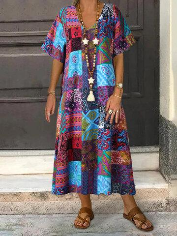 Vestido étnico vintage