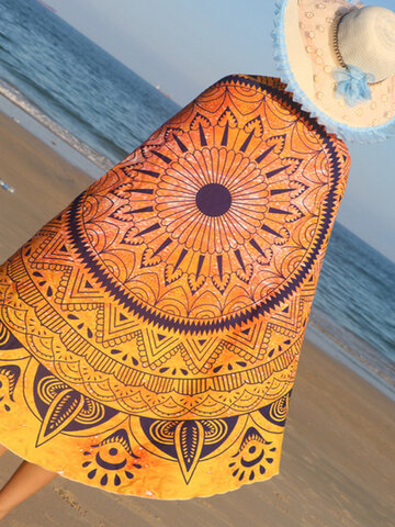 150cm Mandala Printing Polyester Summer Beach Towel Hanging Decor Tapestry Blanket