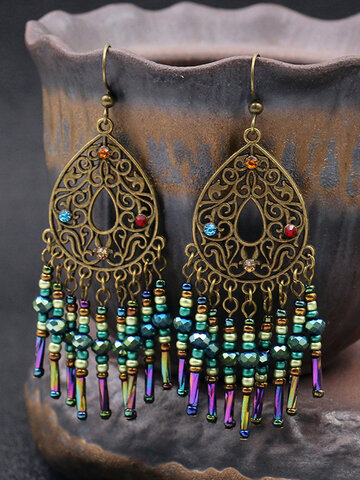 Hollow Long Tassel Earrings