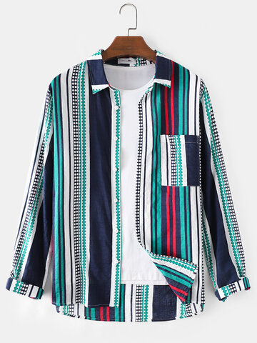Combined Multi-Striped Shirts