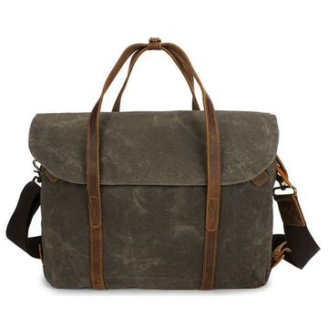 Ekphero 14 Inch Vintage Waterpoof Canvas Laptop Bag