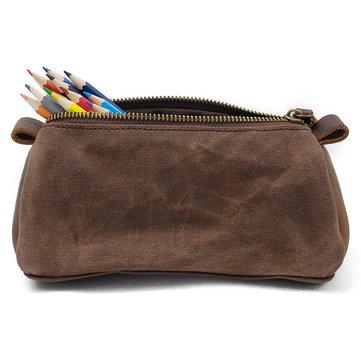 قماش حقيبة كلاتش خمر التجميل سفر غسل حقيبة قلم رصاص حقيبة للرجال