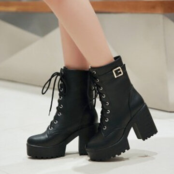 Lace Up Ankle Boots For Women