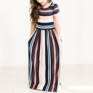 Maxi Party Dress da Stripe Girls per 1Y-11Y