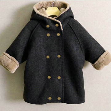Boys Fleece Thicken Coat для 2Y-9Y