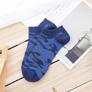 Men's Cotton Retro Comouflage Socks