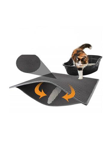 MECO Portable Double-Layer Cat Litter Foam Mat Trapper Foldable Pad Pet Rug