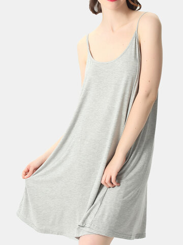 Plus Size Loose Sling Nightdress