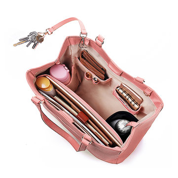 QUEENIE Women Casual Handbag Solid Shopping Shoulder Bag