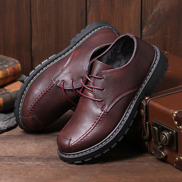Men PU Leather Non-slip Soft Casual Shoes
